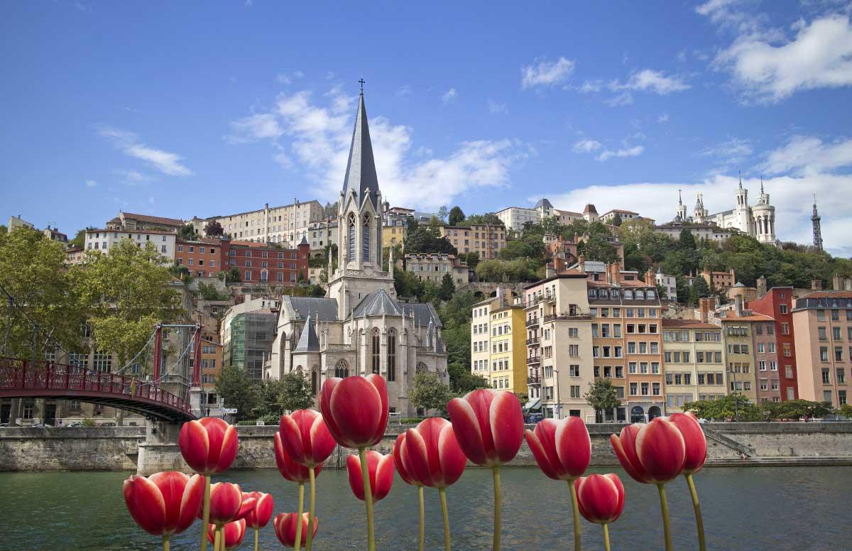 Lyon vue sur la Fourvière