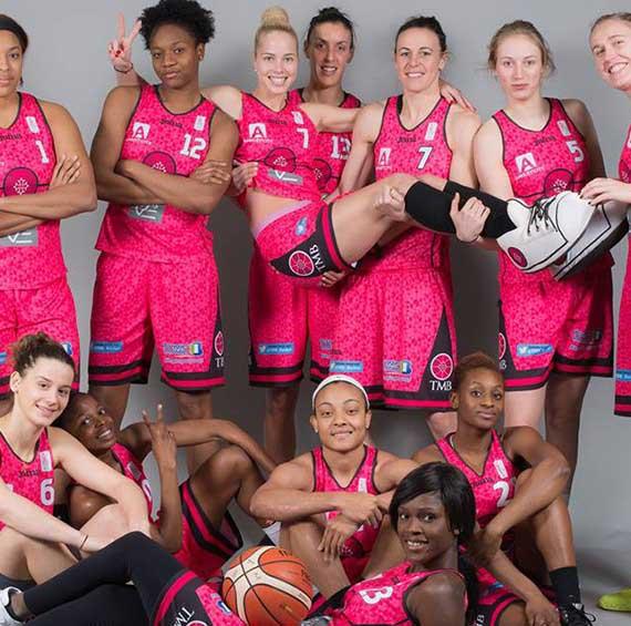 L'équipe du Toulouse Métropole Basket, partenaire sport Appart'City