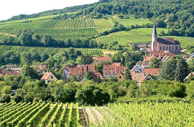 Andlau en Alsace, le village et son vignoble