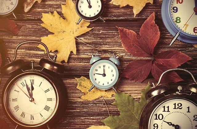 Passage à l'heure d'hiver le 29 Octobre
