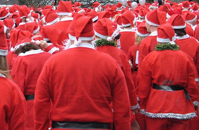 Rassemblement de Pères Noël