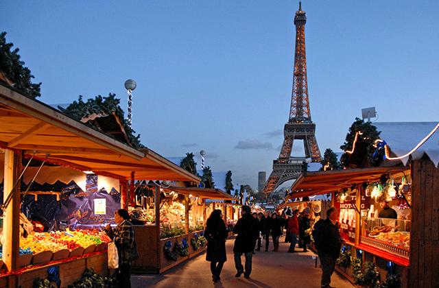 Le march de Noël au Trocadéro Paris